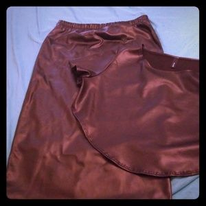 Faux leather outfit (NWOT)